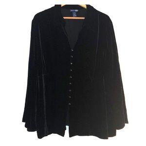 Black Velvet Venezia Jeans Blouse - Size 26/28 ♠️
